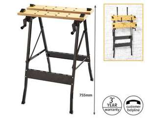 Foldable Workbench - £9.99 @ Aldi From Sunday 10th Jan