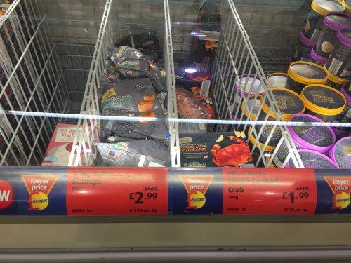 Frozen Scallops - £2.99 @Aldi