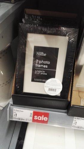 2 x 6x4 Photo Frames - £1 - Asda Instore & Online!