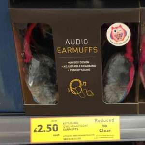 kitsound earmuffs & beanie hats £2.50!!!! instore @ Tesco York Clifton