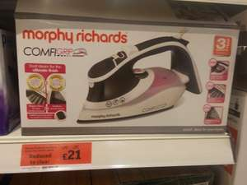 Morphy Richards Comfigrip iron £21. Sainsburys
