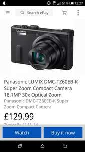 Panasonic Lumix TZ60 (refurbished) £129.99 @ Panasonic eBay