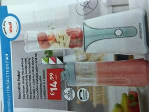 Smoothie  maker for £14.99 in ALDI from today 7th. Jan