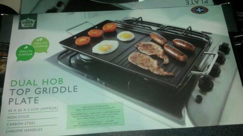 Griddle plate dual hob £4.99 @ B&M