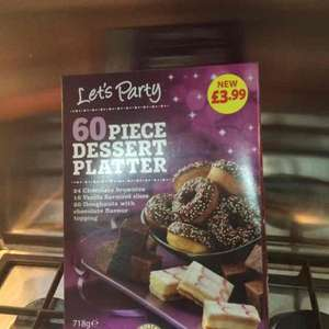 60 piece Dessert Platter - Frozen £1.99 at Aldi