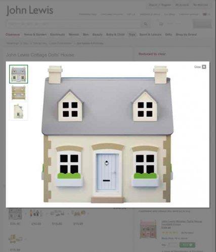 Cottage dolls house £25 @ John Lewis