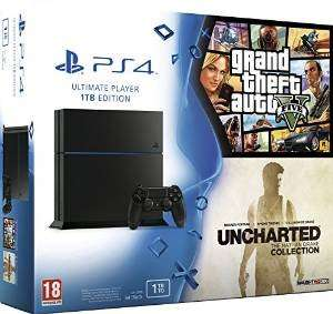 PlayStation 4 console Jet Black 1TB + GTA V + Uncharted: The Drake Nathan Collection £313.32 AMAZON.FR