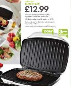 Contact Grill 1000W - £12.99 - LIDL (Silvercrest) - 3 Year Warranty - 18th January