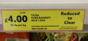 TILDA pure basmati rice 7.5kg £4 at Tesco