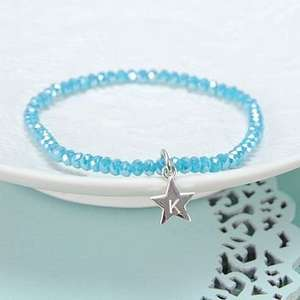 Personalised Mini Gem Bracelet reduced to £3.60 from £12 @ Notonthehighstreet.com, free delivery