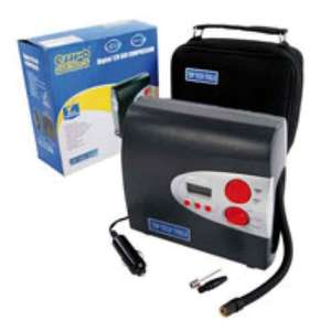 TOP TECH 12V DIGITAL MULTIFUNCTION AIR COMPRESSOR AND FREE USB POWER PACK £17.99 @ Eurocarparts