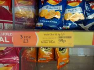 Edinburgh Airport Deal (WHSmith)  - Walkers Crisps 99p each or 3 for £3.... Yep you read it correct!