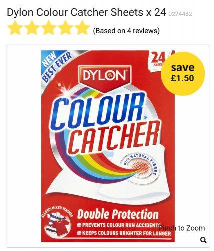 Colour Catcher Sheets £1.50 (was £3) Wilko