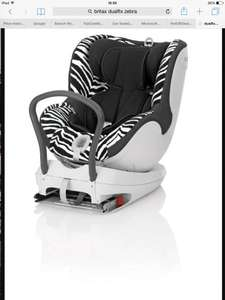 Britax dualfix car seat now £177.50 zebra extended rear facing @ Boots