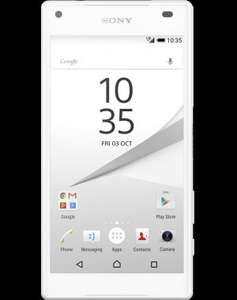 Sony Xperia Z5 Compact with 4g extra 2GB, 1000mins on EE £24.99 mobiles.co.uk (£599.76 total over 2 years)