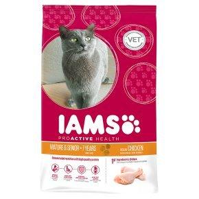Iams Senior & Mature Dry Cat Food Chicken - Waitrose 2.55KG 50% off £7.49