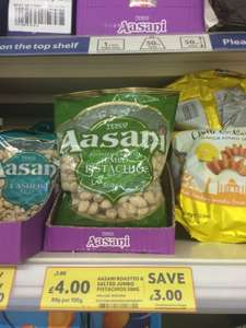 Pistachios 500g for £4 at tesco