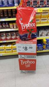 Typhoo 1100 Tea Bags £8.99 @ Poundstretcher