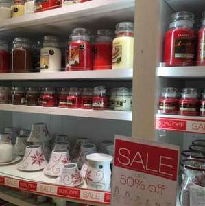 Yankee Candle - up 50% off festive candles - Brent Cross store
