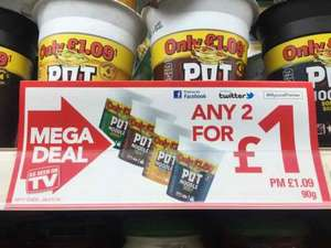 POT NOODLES Any 2 for £1! @ Premier Stores