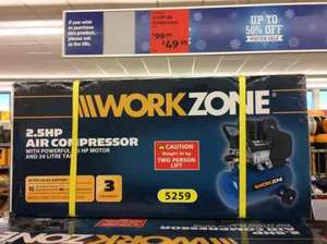 2.5 hp air Compressor  £49.99 @ Aldi Levenshulme/Heaton Chapel