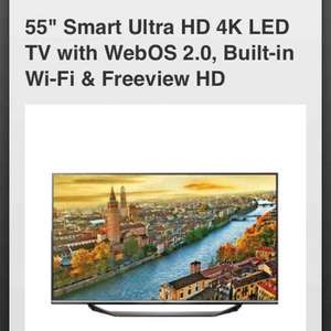 """LG 55UF770V 55"""" Smart Ultra HD 4K LED TV with WebOS 2.0, Built-in Wi-Fi & Freeview HD £699 @ RGB Direct"""