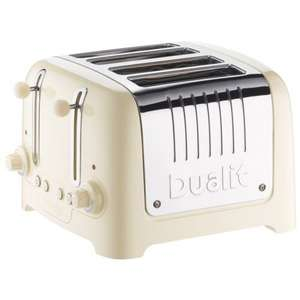 Dualit 4 Slot Toaster in Cream Gloss Finish £39.50 at amazon (still available to order)