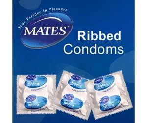144 x MATES 'Ribbed Condoms only £13.20 at Freedoms Shop :-)