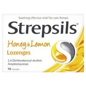 Strepsils Honey and Lemon Lozenges - Pack of 16 - £0.97 (add-on item) @ Amazon
