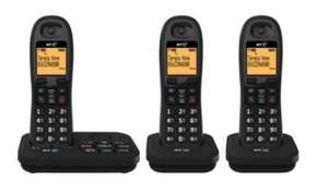Set of 3 Cordless Phones, with answer machine £27.50 @ Tesco Direct