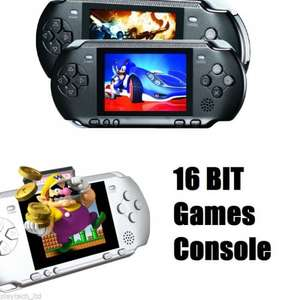 PXP 16Bit Gaming Console Including 150+ Games £9.99 Delivered @ Playtech Via eBay