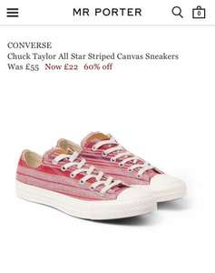 Converse All Star Chuck Taylor Striped Shoes £22 @ mrporter