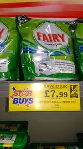 90 Fairy dishwasher tablets £7.99 @ Home Bargains