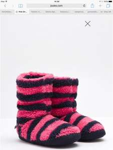 Joules Girls Pink Stripe Slipper Boots reduced to £4.95 @ Joules