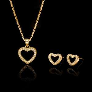 Zirconia 22ct Gold Plated Sterling Silver Jewellery Set £14.44 delivered OR Two for £20.41 delivered @ John Greed Jewellery