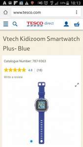 VTech kidizoom smart watch plus pink and blue £22 @ Tesco