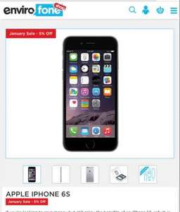 Apple iphone 6s 128GB space grey (Refurb)  - £597.55 locked EE @ Envirofone shop