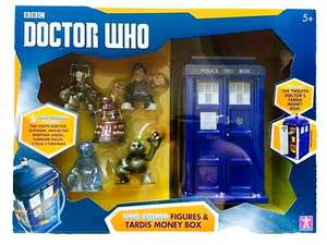 Dr Who Time Squad of 5 Figures & Tardis Money Box £4.99 @ B&M