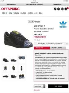 Adidas superstar trainers Pharrel / todd james / mr fashion collaboration (13 styles under £28) uk5-11 from £20 @ offspring / office plus £3.50 std delivery per order
