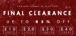 Upto 85% Off Clearance Sale @ Rare London + Another 20% off with code