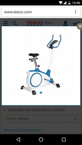Magnetic Exercise Bike £40 Tesco max 150kg