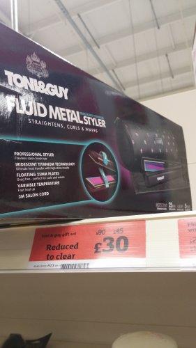 Toni & Guy: Fluid metal styler, £30, Sainsbury's