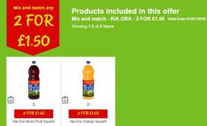 Kia Ora 2 x 2ltr for £1.50 @ Asda