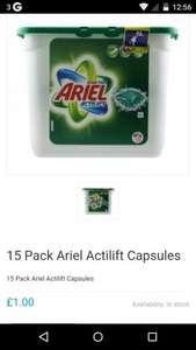 15 Pack Ariel Actilift Capsules £1.00 @ Poundshop