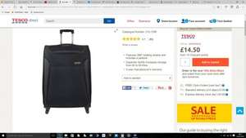 Revelation by Antler Nexus 4-Wheel Suitcase, Black Large £14.50 @ Tesco Direct