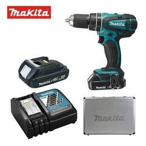 Makita DHP456 Combi Drill with 2 Batteries In Metal Case £107.99 @ Cnspowertools