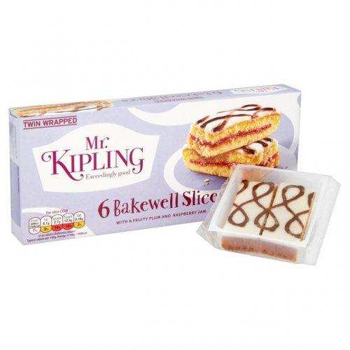 Ocado - Mr Kiplings Bakewell Slices 6 pack for 74p!!