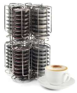 Coffee Pod Holder Revolving Capsule Stand for Tassimo, Dolce Gusto & Nespresso (holds up to 32/64 pods depending on brand) for £9.40 @ Neodirect ebay