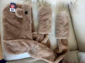 childrens furry hat scarf and mittens all-in-one from £6 to £2 at the original factory shop tredegar