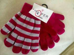 2 pairs childrens gloves just 50p at the original factory shop tredegar